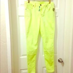 Neon yellow jeans